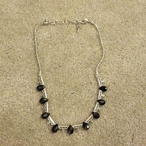 Brighton st germain jet crystal necklace